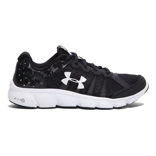 Kids Under Armour Micro G Assert 6 Running Shoe - Black 4.5Y