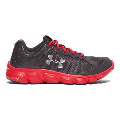 Kids Under Armour Micro G Assert 6 Running Shoe - Charcoal/Red 5Y