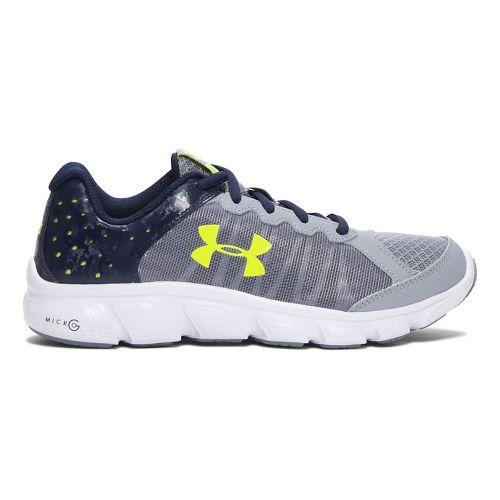 Under Armour Micro G Assert 6  Running Shoe - Steel/White 6Y