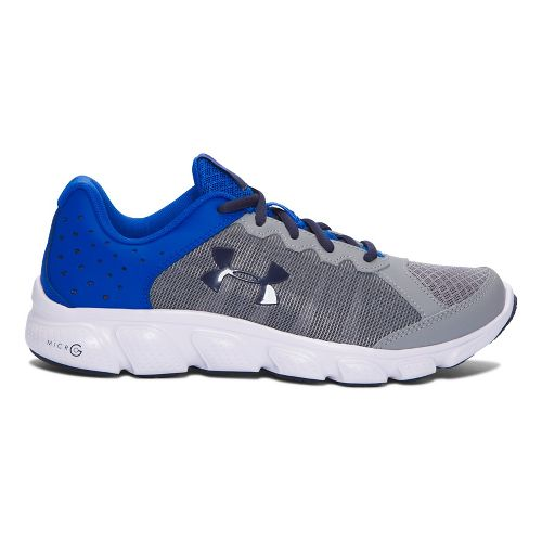 Under Armour Micro G Assert 6  Running Shoe - Steel/Blue 6Y