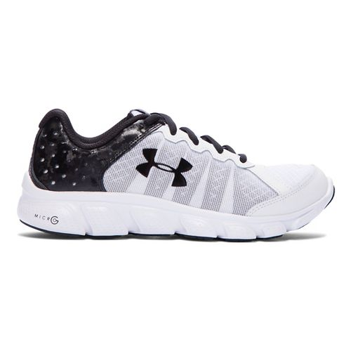 Kids Under Armour Micro G Assert 6 Running Shoe - Black 3.5Y