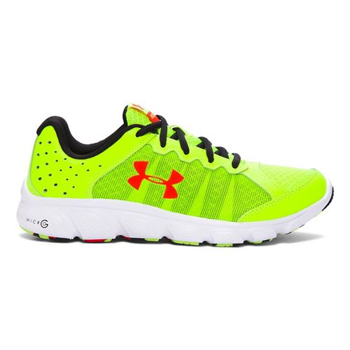 Kids Under Armour Micro G Assert 6 Running Shoe - Yellow/Anthem Red 6Y