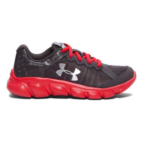 Kids Under Armour Boys Assert 6 Running Shoe - Charcoal/Red 12