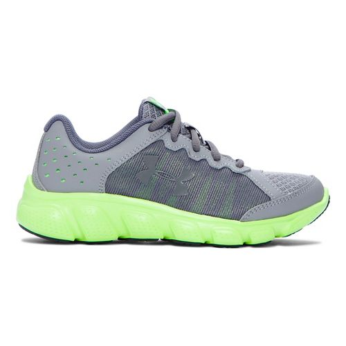 Kids Under Armour Assert 6 Running Shoe - Steel/Lime Light 13C