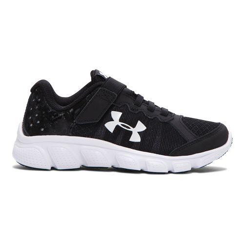 Kids Under Armour Boys Assert 6 AC Running Shoe - Black 2.5