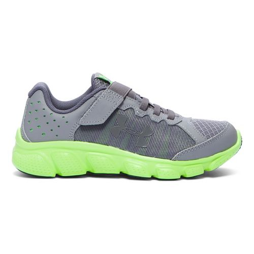 Kids Under Armour Assert 6 AC Running Shoe - Steel/Lime Light 10.5C