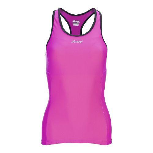 Womens Zoot Performance Tri Racerback Sport Tops Bras - Dark Pink XS