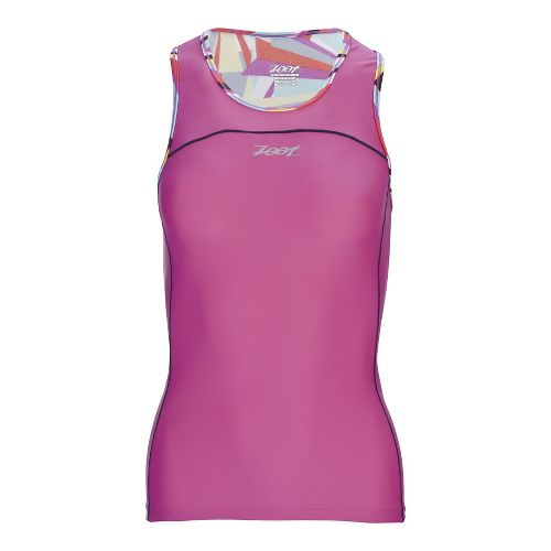 Womens Zoot Performance Tri BYOB Sleeveless & Tank Technical Tops - Kaleidoscope S