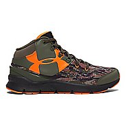Kids Under Armour Boys Overdrive Mid Combat D Running Shoe