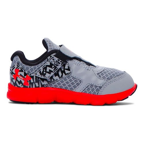 Kids Under Armour Infant Thrill RN AC Running Shoe - Steel/Black 7C