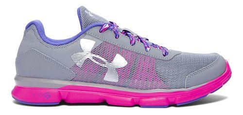 Kids Under Armour Micro G Speed Swift Running Shoe - Steel/Lunar Pink 5.5Y