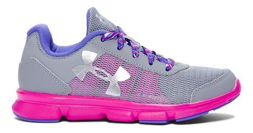 Kids Under Armour Speed Swift Running Shoe - Steel/Lunar Pink 1.5Y