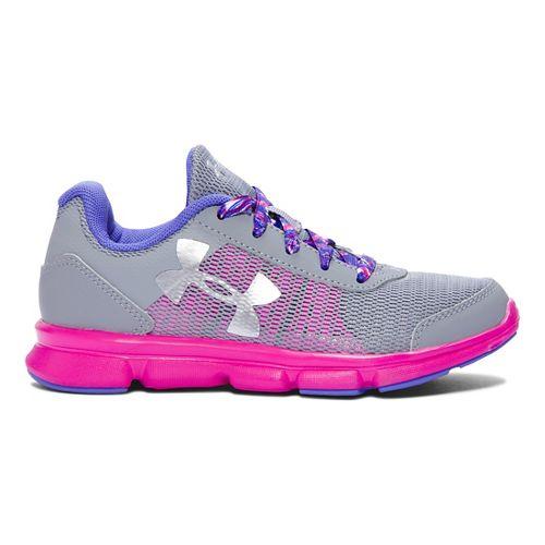 Kids Under Armour Speed Swift Running Shoe - Steel/Lunar Pink 2.5Y
