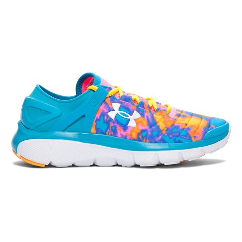 Kids Under Armour Speedform Fortis Atom Running Shoe - Bold Aqua/Pink 5.5Y