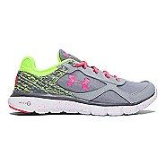Kids Under Armour Girls MicroG Velocity RN GR Grade School Running Shoe