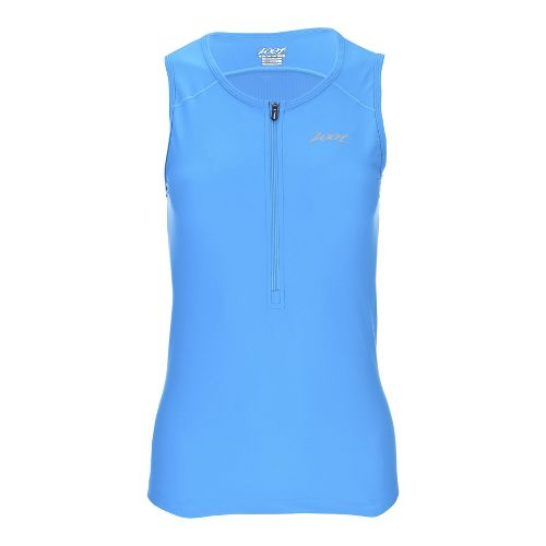 Womens Zoot Active Tri Mesh Sleeveless & Tank Technical Tops - Ocean XS
