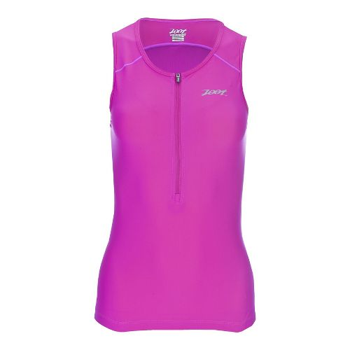 Womens Zoot Active Tri Mesh Sleeveless & Tank Technical Tops - Passion Fruit L