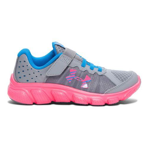 Kids Under Armour Assert 6 AC Running Shoe - Steel/Red 3Y