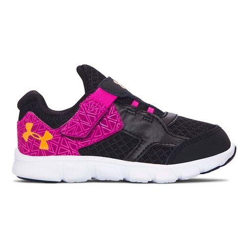 Kids Under Armour Thrill RN AC Running Shoe - Black/Lunar Pink 7C