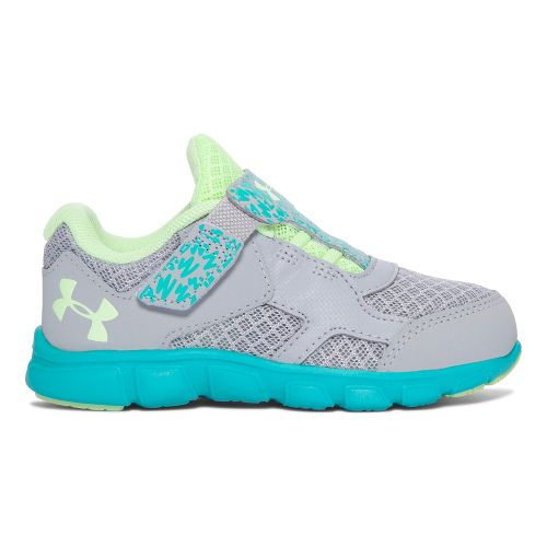 Under Armour INF Thrill RN AC  Running Shoe - Grey/Lime 9C
