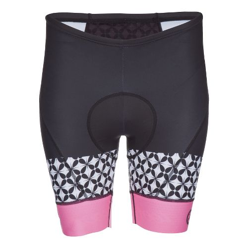 Womens Zoot Cycle LTD Cycling Shorts - White/Flo Pink XS