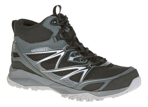 Mens Merrell Capra Bolt Mid Waterproof Hiking Shoe - Black 9.5