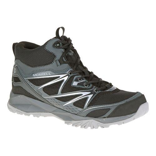 Mens Merrell Capra Bolt Mid Waterproof Hiking Shoe - Black 10