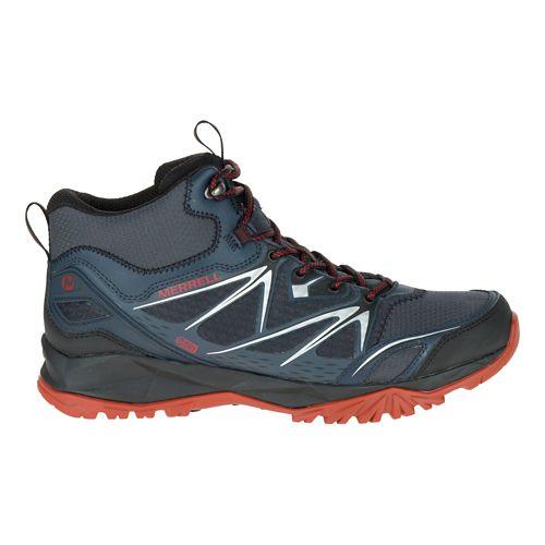 Mens Merrell Capra Bolt Mid Waterproof Hiking Shoe - Black/Navy 11
