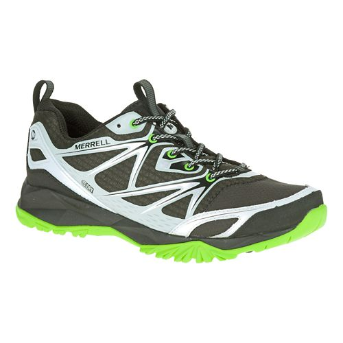 Mens Merrell Capra Bolt Waterproof Hiking Shoe - Black/Silver 10.5