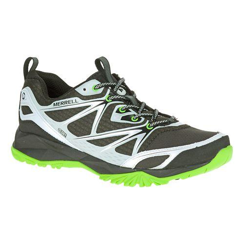 Mens Merrell Capra Bolt Waterproof Hiking Shoe - Black/Silver 7.5