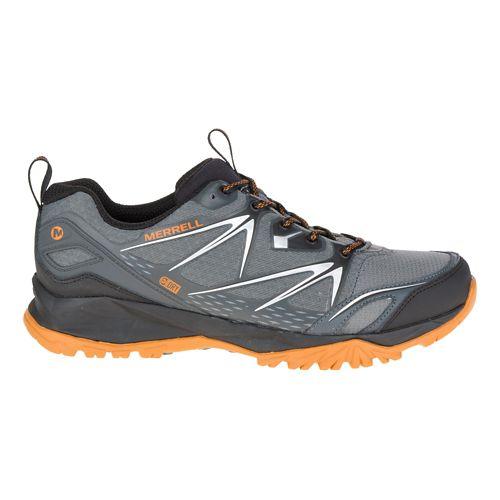 Mens Merrell Capra Bolt Waterproof Hiking Shoe - Grey/Orange 10
