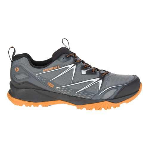 Mens Merrell Capra Bolt Waterproof Hiking Shoe - Grey/Orange 14