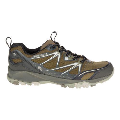 Mens Merrell Capra Bolt Waterproof Hiking Shoe - Black/Silver 12