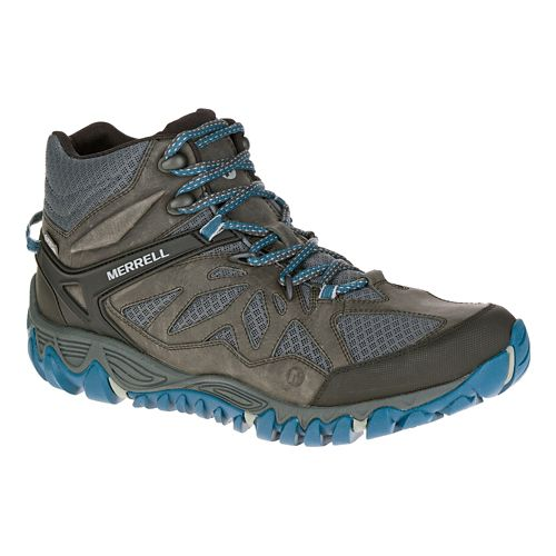 Mens Merrell All Out Blaze Vent Mid Waterproof Hiking Shoe - Grey 10