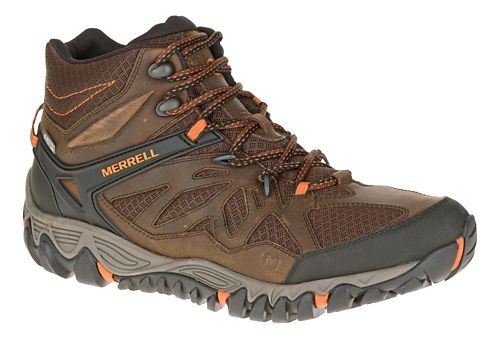 Mens Merrell All Out Blaze Vent Mid Waterproof Hiking Shoe - Burnt Maple 9
