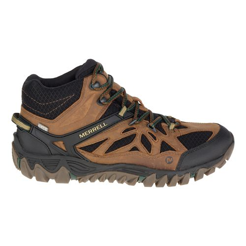 Mens Merrell All Out Blaze Vent Mid Waterproof Hiking Shoe - Merrell Tan 11.5