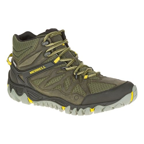 Mens Merrell All Out Blaze Vent Mid Waterproof Hiking Shoe - Olive 8
