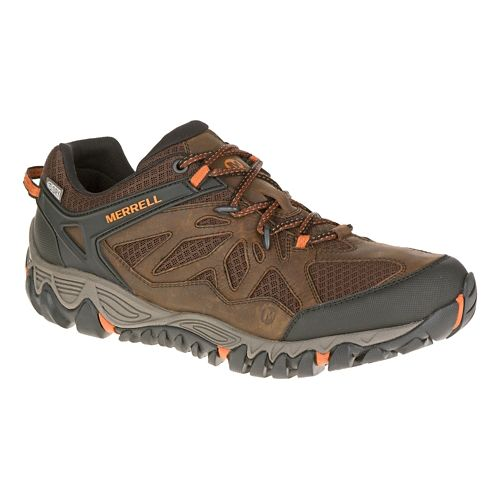 Mens Merrell All Out Blaze Vent Waterproof Hiking Shoe - Burnt Maple 12