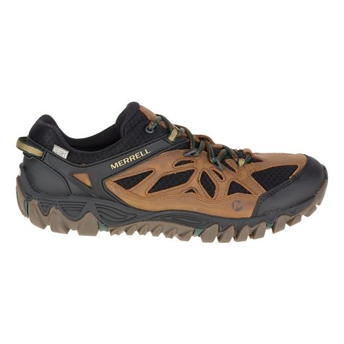 Mens Merrell All Out Blaze Vent Waterproof Hiking Shoe - Merrell Tan 9.5