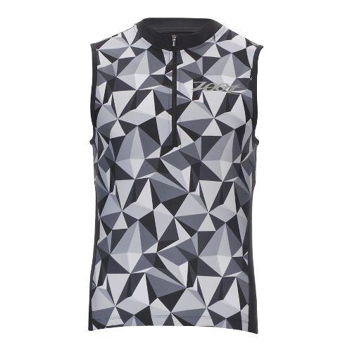 Mens Zoot Performance Tri Jersey Sleeveless & Tank Technical Tops - Black Camo XL