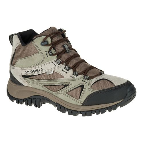 Mens Merrell Phoenix Bluff Mid Waterproof Hiking Shoe - Putty 10