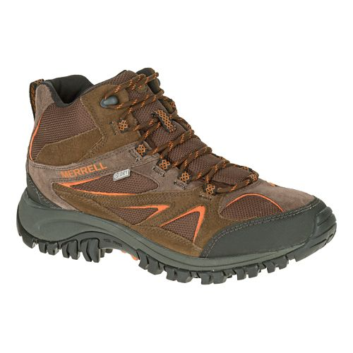 Mens Merrell Phoenix Bluff Mid Waterproof Hiking Shoe - Dark Brown 8.5