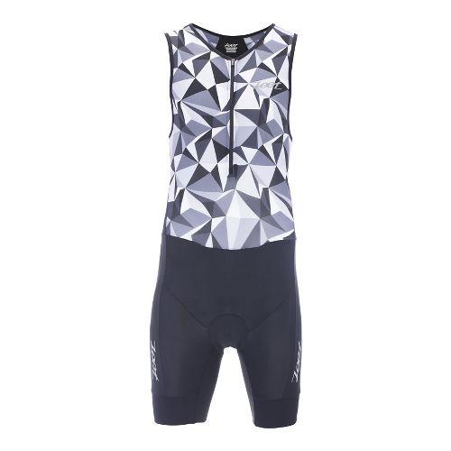 Mens Zoot Performance Tri Racesuit Triathlon UniSuits - Black Camo M