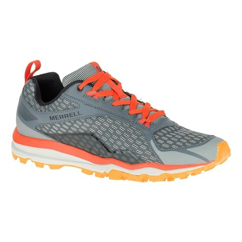 Mens Merrell All Out Crush Trail Running Shoe - Grey 14