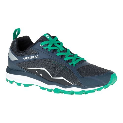 Mens Merrell All Out Crush Trail Running Shoe - Navy 12