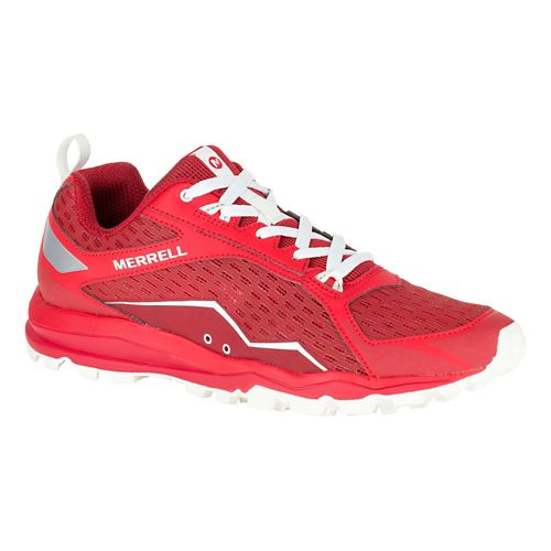 Mens Merrell All Out Crush Trail Running Shoe - Red 15