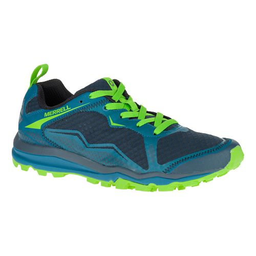 Mens Merrell All Out Crush Light Trail Running Shoe - Bright Green 9