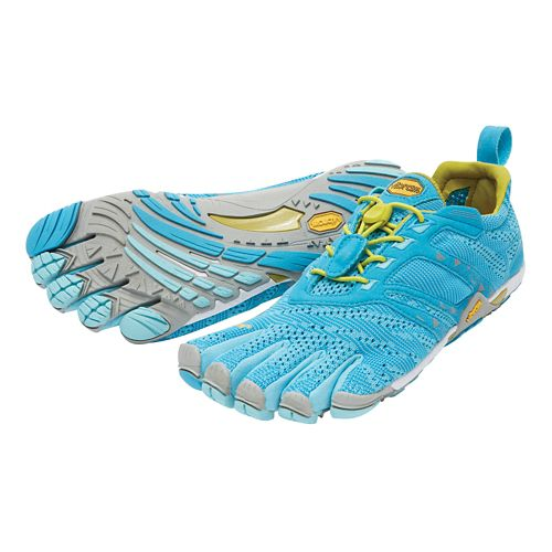Womens Vibram FiveFingers KMD EVO Cross Training Shoe - Blue/Grey/Yellow 38