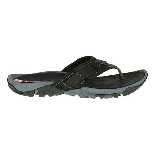 Mens Merrell Telluride Thong Sandals Shoe - Black 7