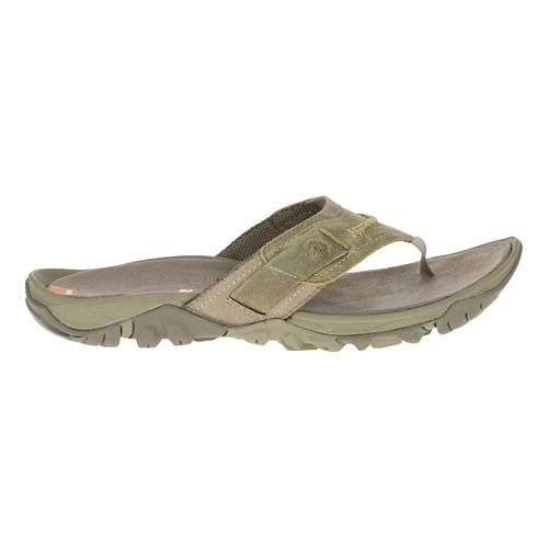 Mens Merrell Telluride Thong Sandals Shoe - Stucco 7
